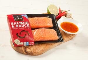 Chilli, Lime & Ginger Salmon & Sauce